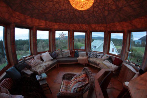 utsikt til alle retninger fra toppen av tårnet